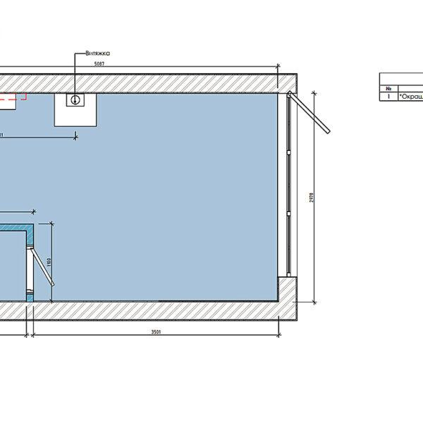 Дизайн-проект фастфуду, план стелі