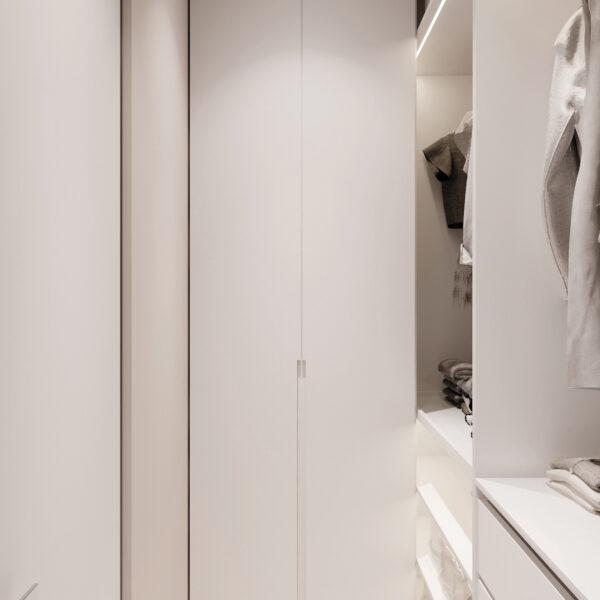"""Дизайн-проект однокімнатної квартири ЖК """"Райдужний"""", гардеробна вид зліва"""
