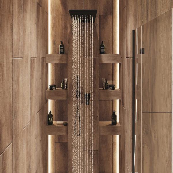 """Дизайн-проект однокімнатної квартири ЖК """"Райдужний"""", санвузол душова кабінка"""