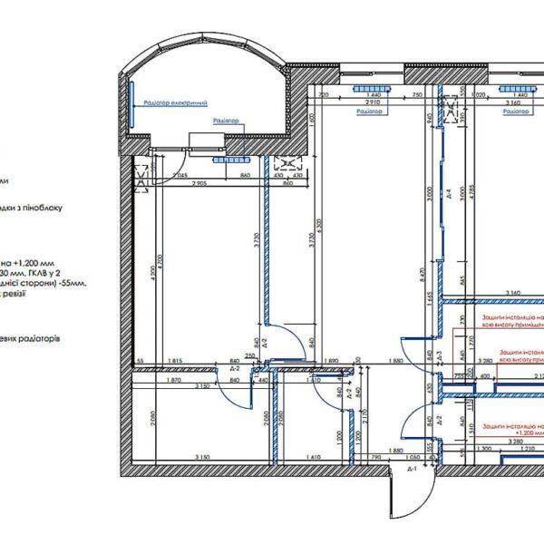 """Дизайн интерьера квартиры ЖК """"Инфинити"""", план монтажа"""