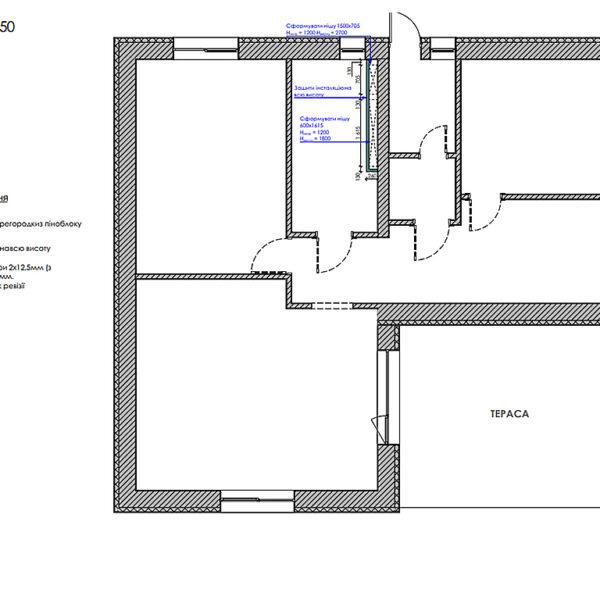 Дизайн-проект інтер'єру будинку смт Бабаї, план монтажу