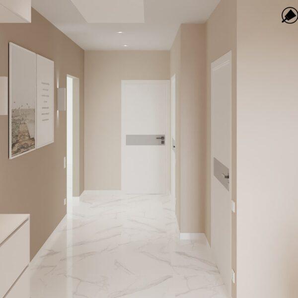 Дизайн-проект інтер'єру будинку смт Бабаї, коридор