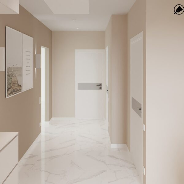 Дизайн-проект интерьера дома пгт Бабаи, коридор