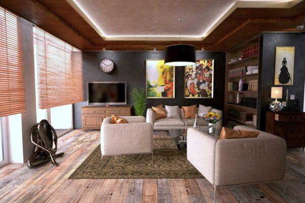 Дизайн котеджу, вітальня