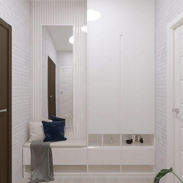 Дизайн-проект частного дома, прихожая вид спереди
