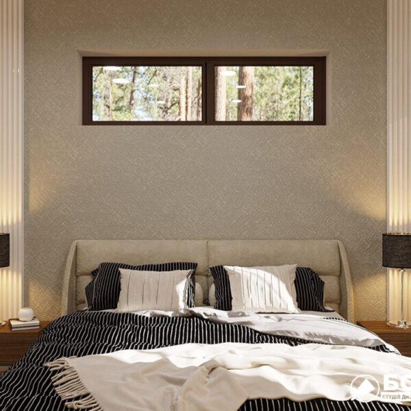 Дизайн-проект приватного будинку, спальня вид спереду