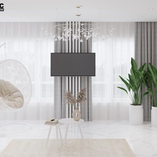 Дизайн-проект интерьера дома пгт Бабаи, терраса вид сзади