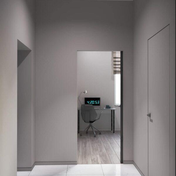 """Дизайн-проект трикімнатної квартири ЖК """"Віденський дім"""", коридор №2"""