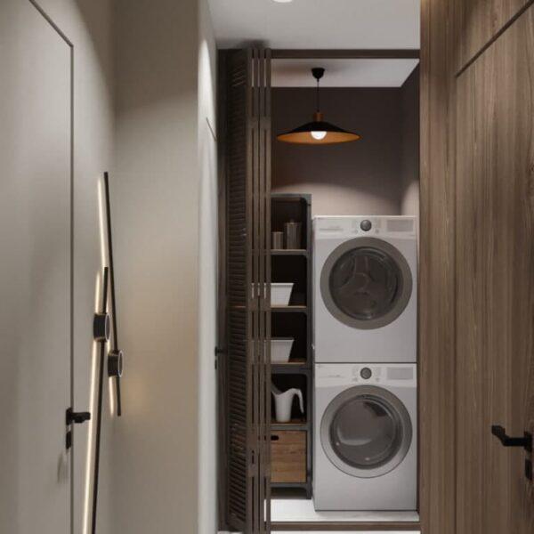"""Дизайн-проект трикімнатної квартири ЖК """"Віденський дім"""", коридор №1"""