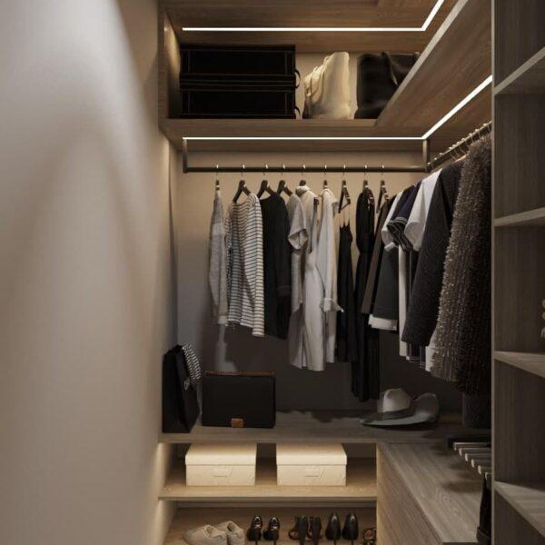 """Дизайн-проект трикімнатної квартири ЖК """"Віденський дім"""", гардеробна вид збоку"""
