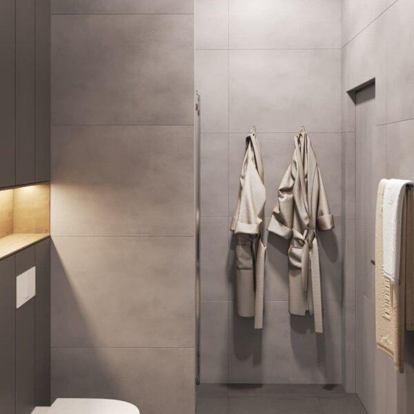 """Дизайн-проект трикімнатної квартири ЖК """"Віденський дім"""", санвузол №2 вид зліва"""