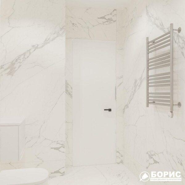 """Дизайн-проект трикімнатної квартири ЖК """"Віденський дім"""", санвузол №1 вид зліва"""