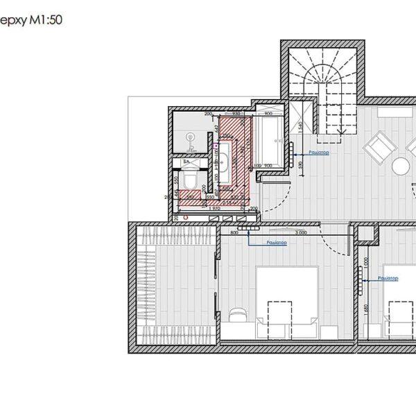Дизайн інтер'єру двоповерхового будинку м. Вовчанськ, план теплої підлоги 2й поверх