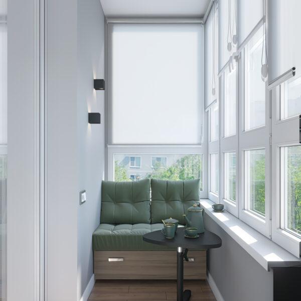 """Дизайн-проект однокімнатної квартири ЖК """"Зерновий"""", балкон вид зліва"""