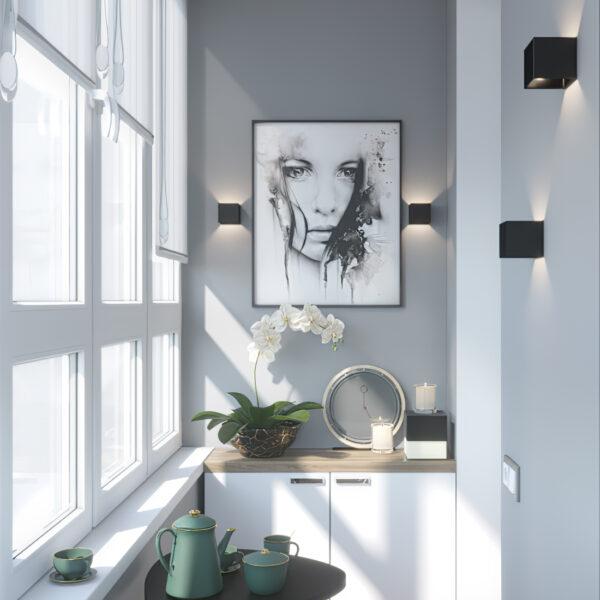 """Дизайн-проект однокомнатной квартиры ЖК """"Зерновой"""", балкон вид справа"""