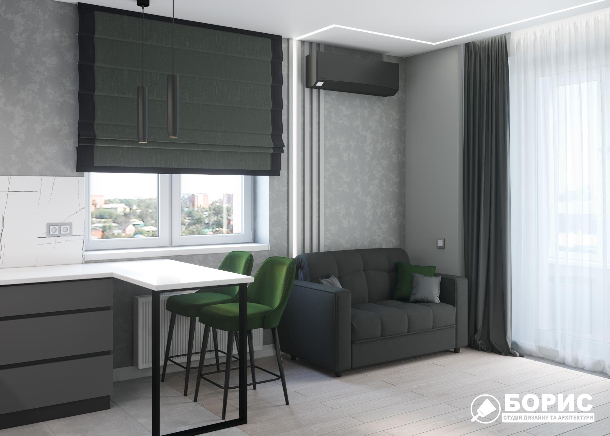 Дизайн однокомнатной квартиры в Харькове