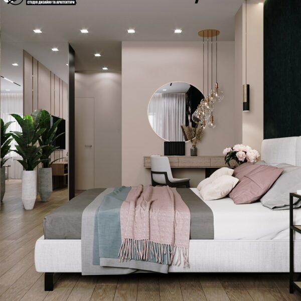 """Дизайн-проект готелю """"CITY LIFE"""", вімната №1 вид зліва"""