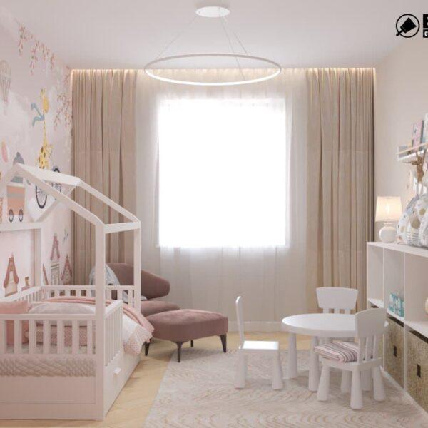 "Дизайн-проект двокімнатної квартири ЖК ""Левада"", дитяча кімната вид спереду"
