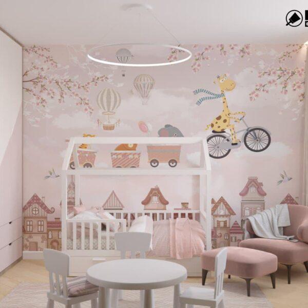 "Дизайн-проект двокімнатної квартири ЖК ""Левада"", дитяча кімната вид зліва"