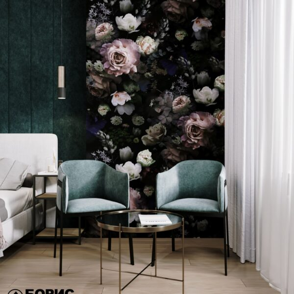 """Дизайн-проект гостиницы """"CITY LIFE"""", комната №1 столик, стулья"""