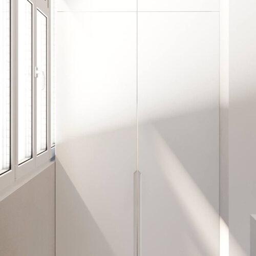 """Дизайн-проект интерьера однокомнатной квартиры ЖК """"Левада 2"""", лоджия вид на окно"""