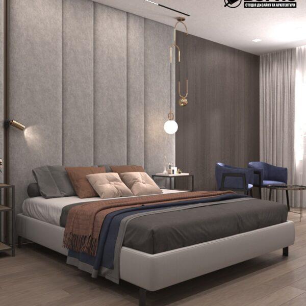 """Дизайн-проект гостиницы """"CITY LIFE"""", комната №2 вид спереди"""