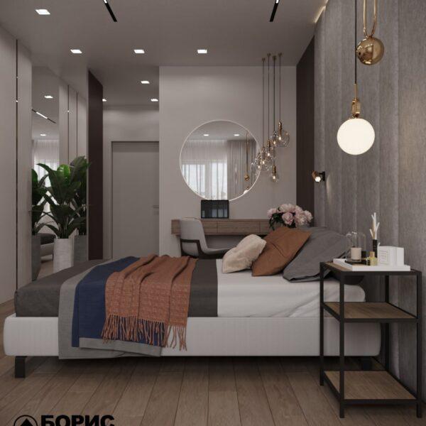 "Дизайн-проект гостиницы ""CITY LIFE"", комната №2 вид слева"