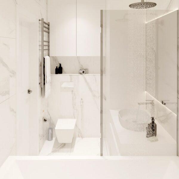 "Дизайн-проект двокімнатної квартири ЖК ""Левада"", санвузол вид зліва"