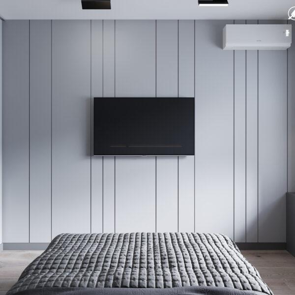"""Дизайн інтер'єру квартири ЖК """"Віденський дім"""", спальня вид ззаду"""