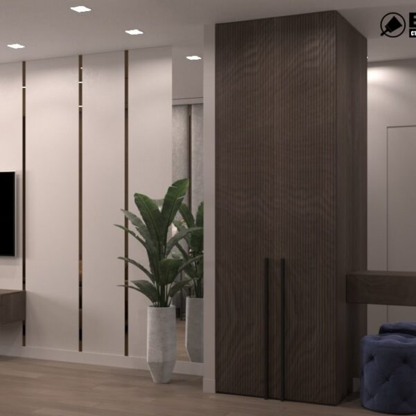 """Дизайн-проект гостиницы """"CITY LIFE"""", комната №2 вид сзади"""