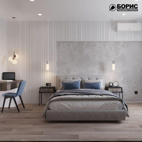 """Дизайн-проект готелю """"CITY LIFE"""", кімната №3 вид спереду"""