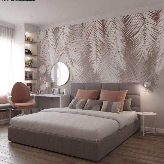 "Дизайн-проект двоповерхової квартири ЖК ""Клеменова Дача"", спальня №2 вид спереду"