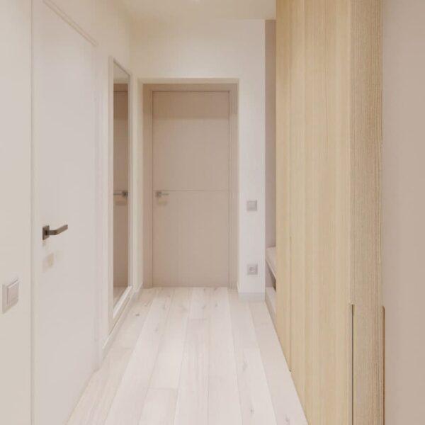 "Дизайн-проект двокімнатної квартири ЖК ""Левада"", коридор"
