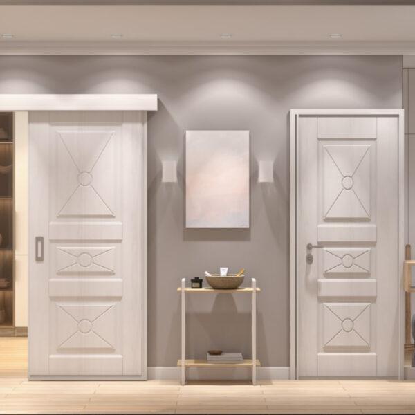 """Дизайн-проект двухкомнатной квартиры ЖК """"Пролисок"""", прихожая вид спереди"""