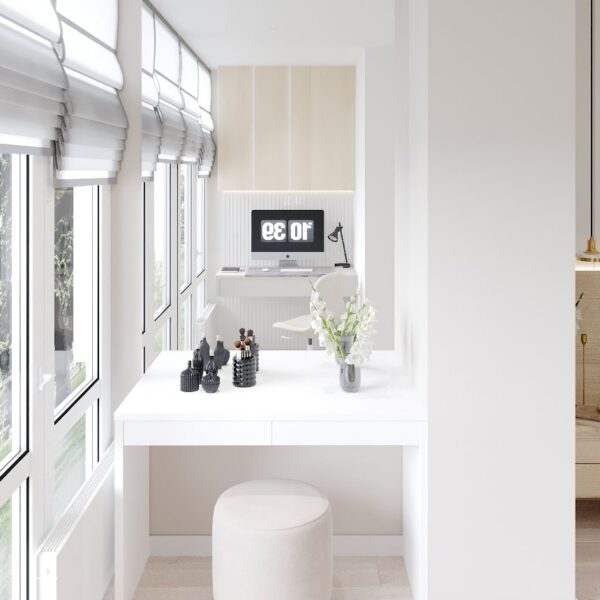 "Дизайн-проект двокімнатної квартири ЖК ""Левада"", лоджія вид справа"