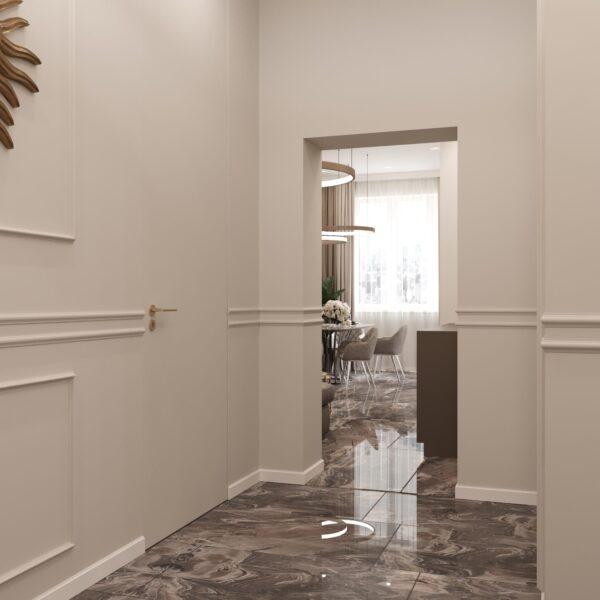 """Дизайн-проект однокімнатної квартири ЖК """"Інфініті"""", коридор"""