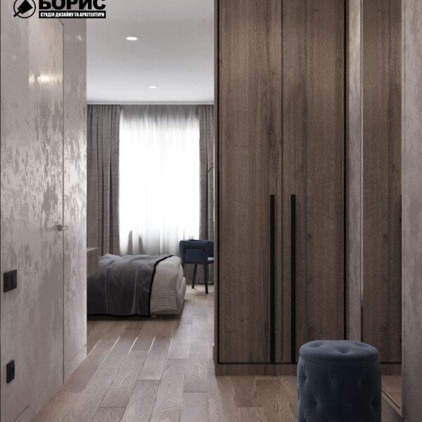 """Дизайн-проект гостиницы """"CITY LIFE"""", комната №3 вид с прихожей"""