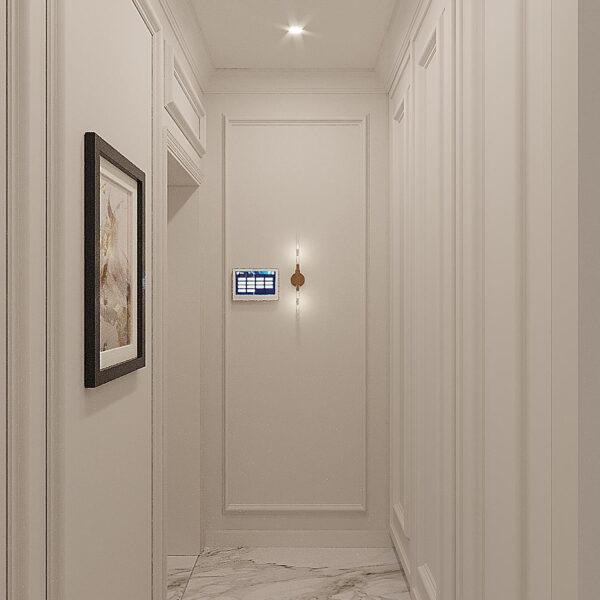 """Дизайн-проект квартири ЖК """"Німецький проект"""", коридор вид спереду"""