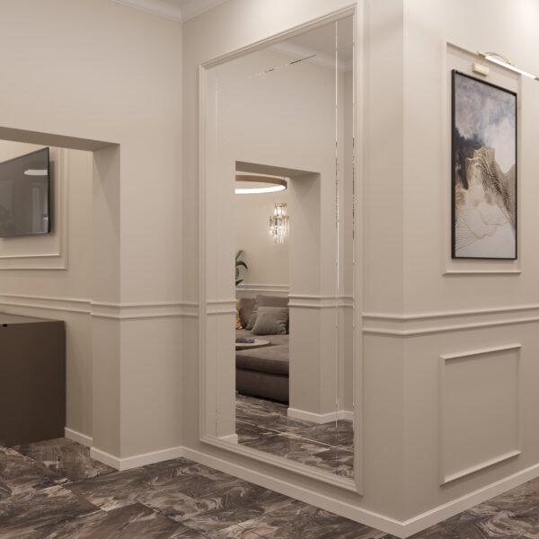 """Дизайн-проект однокімнатної квартири ЖК """"Інфініті"""", коридор фото 2"""