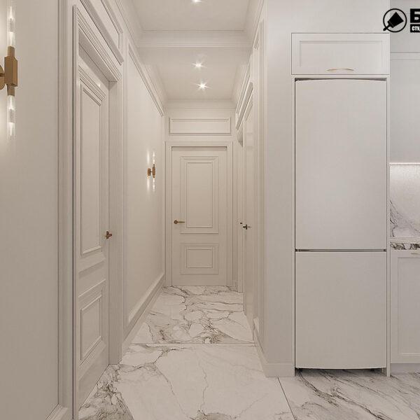 """Дизайн-проект квартири ЖК """"Німецький проект"""", коридор вид ззаду"""