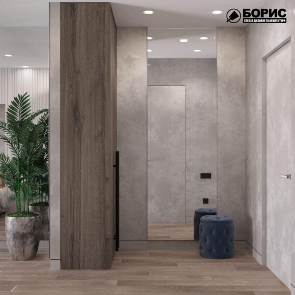 """Дизайн-проект гостиницы """"CITY LIFE"""", комната №3 прихожая"""
