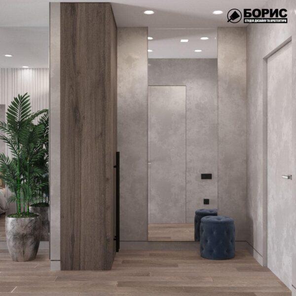 """Дизайн-проект готелю """"CITY LIFE"""", кімната №3 передпокій"""