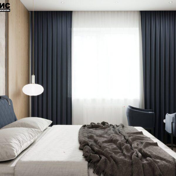 """Дизайн-проект гостиницы """"CITY LIFE"""", комната №4 вид сбоку"""
