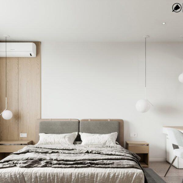 """Дизайн-проект гостиницы """"CITY LIFE"""", комната №5 вид спереди"""