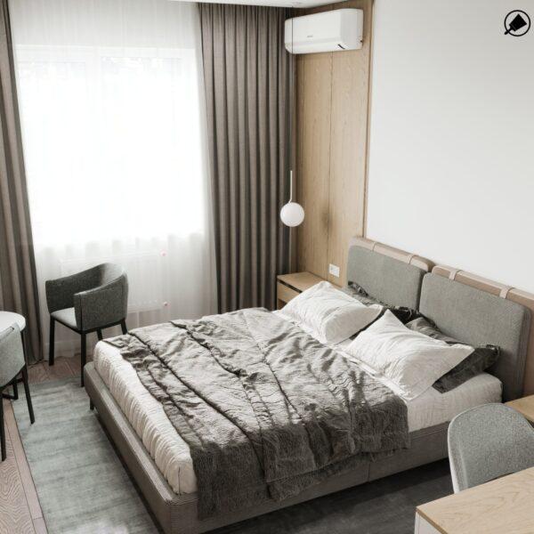 """Дизайн-проект гостиницы """"CITY LIFE"""", комната №5 вид сверху"""