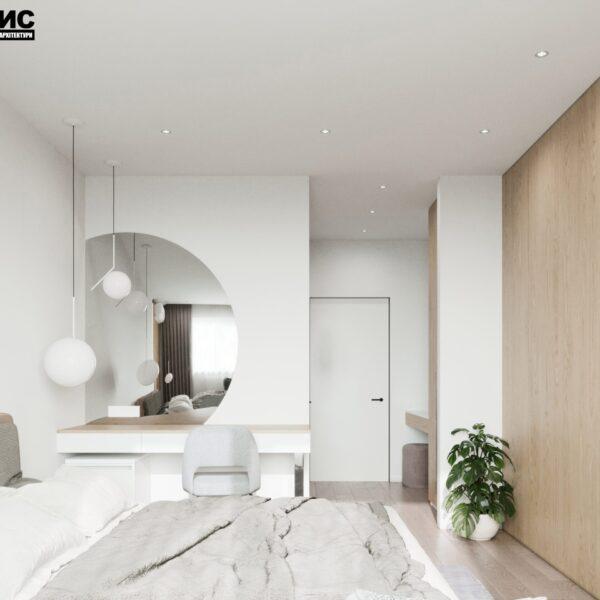 """Дизайн-проект готелю """"CITY LIFE"""", кімната №5 вид справа"""