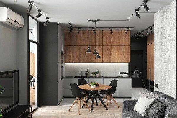 Дизайн інтер'єру однокімнатної квартири, фото 1
