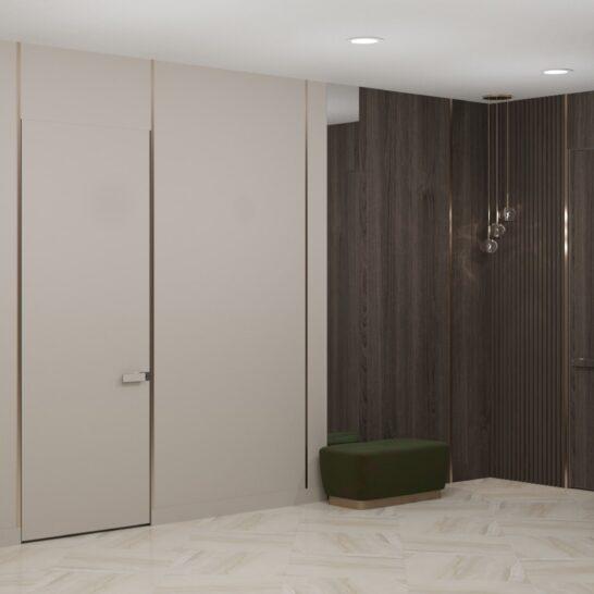 "Дизайн-проект двоповерхової квартири ЖК ""Клеменова Дача"", хол вид спереду"