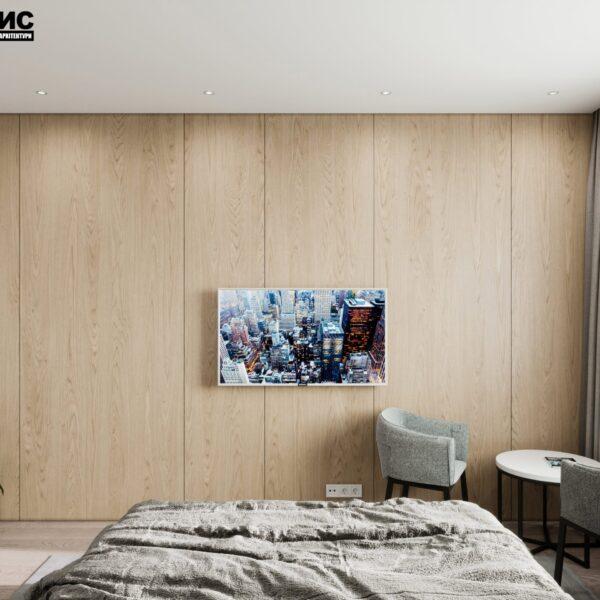 "Дизайн-проект готелю ""CITY LIFE"", кімната №5 вид ззаду"