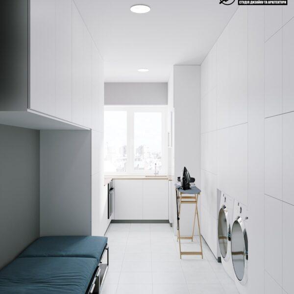 """Дизайн-проект гостиницы """"CITY LIFE"""", помещение для персонала вид спереди"""